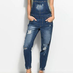 Almost Famous Krisa Overall Mom Boyfriend Fit 1581